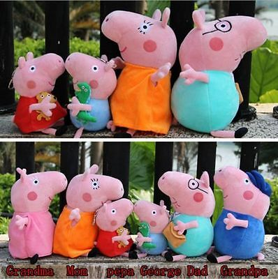 Cute 19cm 30cm TV Characters Figure Soft Plush Pig Doll Sets Kids Toys Xmas Gift