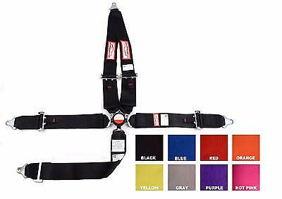 """Racing Harness Sfi 16.1 Pull Up 5 Point 3"""" Cam Lock Belt Black Or Any Color"""