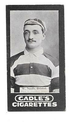 Very Rare Percy Cadle Rugby Card W J Needs ,bristol