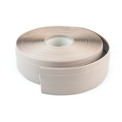 BEIGE FLEXIBLE SKIRTING BOARD 50mm x 15mm PVC protects edges floor wall cover