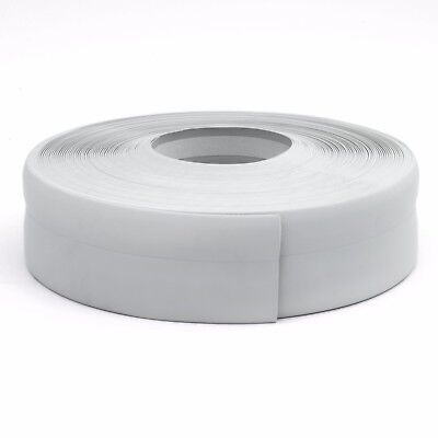 LIGHT GREY FLEXIBLE SKIRTING BOARD 50mm x 15mm PVC floor wall joint cover strip