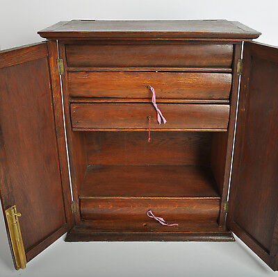 C 1850 Rare Solicitors Cabinet, Lockable Book And Document Store W/ Draws & Lid