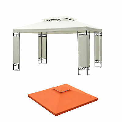 10 x 10' Double Tier Replacement Canopy Top Patio Pavilion Gazebo Sunshade Cover