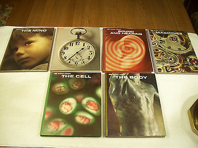 6 Lot Life Science Library Mind Time Sound Machines Body Cell Illustrated 146C