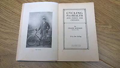 Cycling for Health and points for cyclists 1913 book Frank Bowden ideal gift