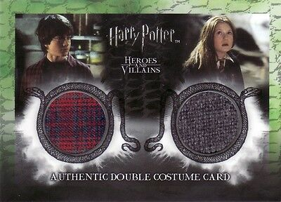Harry Potter Heroes & Villains Harry & Ginny Ci2 Dual Costume Card 102/130