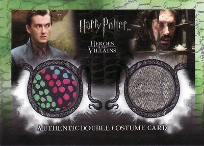 Harry Potter Heroes & Villains Barty Crouch Jr & Igor Karkoroff DC2 Costume Card