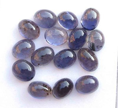 28.10 CT Natural Blue Iolite Gemstone Oval Cabochon Wholesale Lot