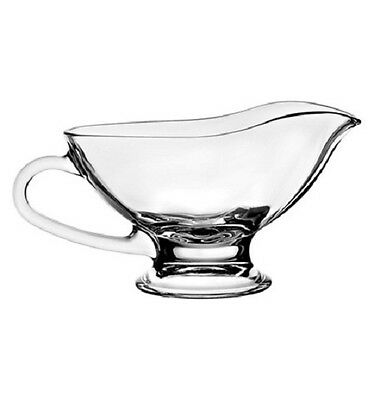 Pasabahce Basic Clear Glass Large Gravy Sauce Boat 250 ml Serving Sauce Dish