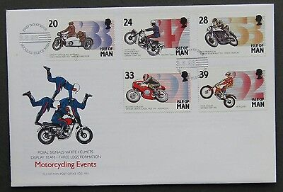Isle of Man Official 3 6 1993 Motorcycling Events Royal Signals White Helmets
