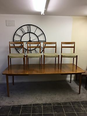 Mid Century Reproduction - Nils Jonsson Large Extending Dining Table And 4 Chair
