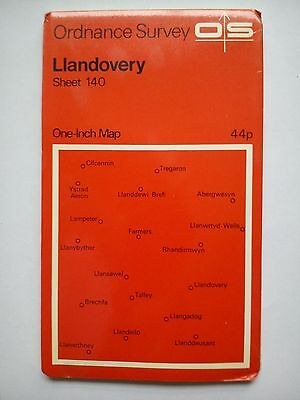 One-Inch 7th Series Ordnance Survey Map Sheet 140 Llandovery