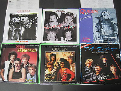 QUEEN Related JAPAN 7inch x10 set 1980s