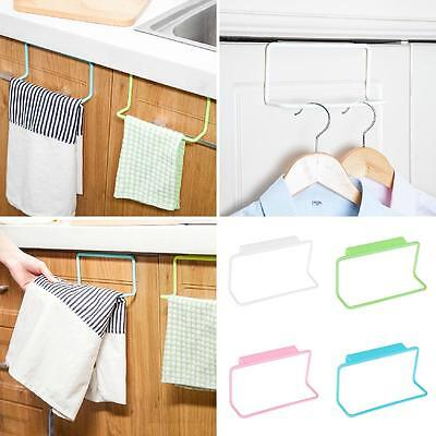 Over Door Tea Towel Rack Bar Hanging Holder Rail Bathroom Kitchen Hanger Glaring