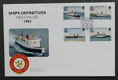 Isle of Man Official 15 9 1993 Ships Definitives High Values