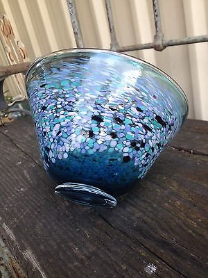 Beautiful  Signed Tricia Allen Art Glass Bowl
