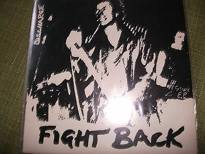 discharge - fight back,5 track ep,clay 3,hardcore punk,anarcho,ex+ cond