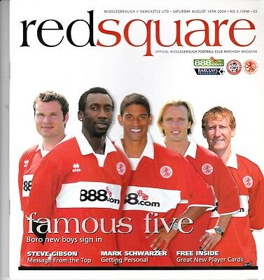 Middlesbrough v Newcastle United (Barclays Premiership) 14,08.2004