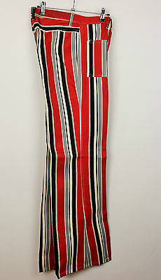 Womens/Mens Vintage 70s Party Striped  Flared  Bell Bottom Festival Jeans W30-31