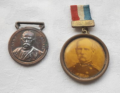2 Lord Roberts Medallions - Boer War - One With Photo