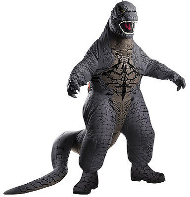 Halloween Lifesize GODZILLA ADULT BLOWUP Men Costume Haunted House