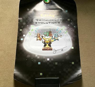 Pokemon Symphonic Evolutions poster, signed by conductor and director