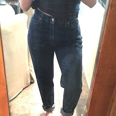 Vintage Ladies High Waisted Mom Jeans Levi's 550 Relaxed Fit Tapered Leg