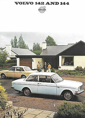 Volvo 142 and 144 Advertising Brochure (1967)