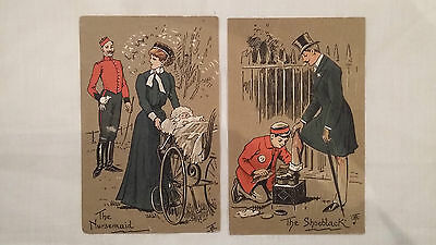 2 Cpa angleterre anciennes / Fantaisie