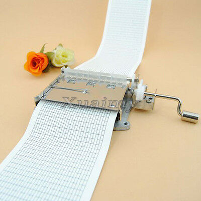 30 Note DIY Tape Hand Crank Music Box Movement+ Puncher+ 5 Strips for Your Songs