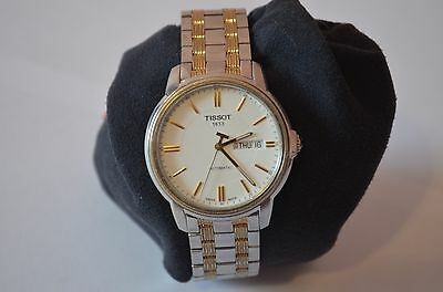 Tissot T-Classic Automatic Iii White Dial Two-Tone Men's Watch T065430A