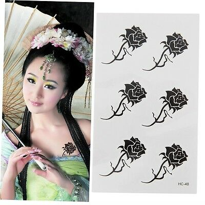 Cool Beautiful Fashion Rose Flowers Waterproof Temporary Tattoo Stickers BY