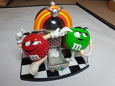 M&M Collectible Jukebox Dancing Characters Candy Sweets Dispenser Rock Roll Cafe