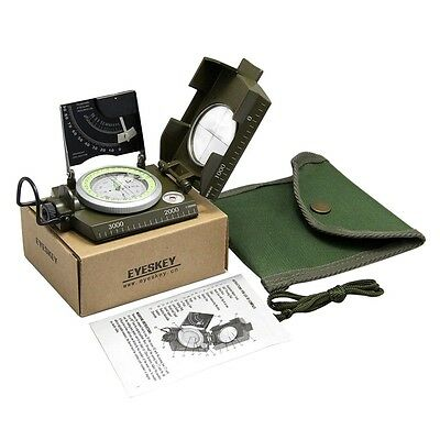 Professional Military Army Sighting Luminous Compass with Inclinometer BY