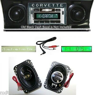 1968-1976 Chevy Corvette Radio With Stereo Speakers Custom Fit 230 CAM