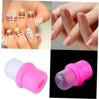 1Pcs Wearable Nail Art Reusable Soaker Acrylic Tips Polish Remover Gel Cap BY