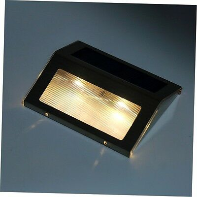 LED Solar Power Path Stair Outdoor Light Garden Fence Wall Landscape Lamp BY