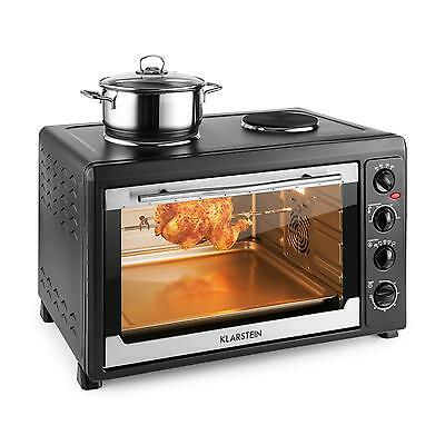 Klarstein Micro Oven Small Oven 2500W + 1600W 60 L Stainless Steel Black