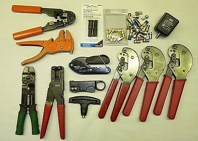 LOT of 10 - Digital Coax Cable and Network Installation Tools, Crimper, Cutter