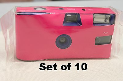 Disposable Hot Pink Wedding Camera 10 Pack Weddings Parties Party Single Use