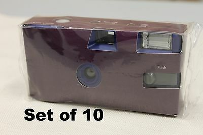 Disposable Purple Wedding Camera 10 Pack Weddings Parties Party Single Use Film