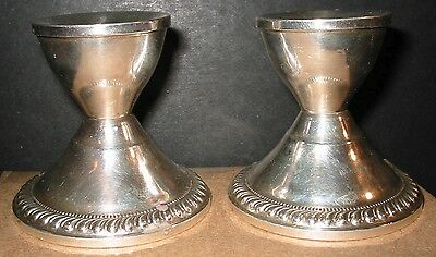 2 Duchin Creaton Sterling Silver Candlestick Holders Weighted 190 Grams