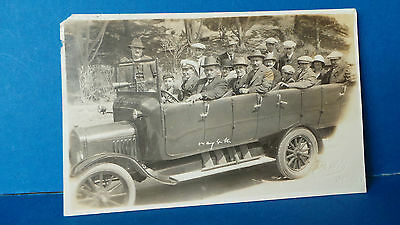 Jersey Channel Islands Postcard Real Photo by Scotty Touring Car or Bus c1930