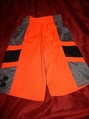 Boys Under Armour Size YXS Youth Extra Small Orange Shorts