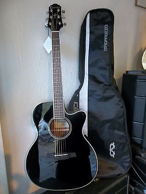 Crafter HTC240EQ/BK, black, electro-acoustic with padded gigbag, new. waranteed.