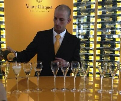 Veuve Clicquot Crystal Champagne Flutes X 6 New