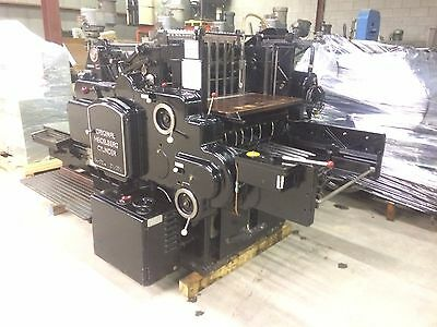 "Printing press Heidelberg "" S"" cylinder   21 x 28 Inches Die Cutter with Inkers"