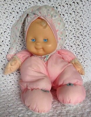 Fisher Price Puffalump Doll Kids Pink VINTAGE Baby Doll Blonde 1991 #1372 1373