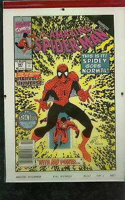 Amazing Spider-Man 341 Four Color Cover Separation