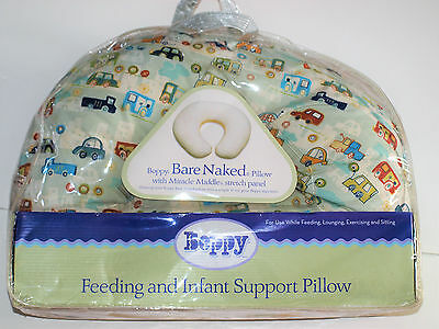 Boppy Pillow Feeding and Infant Support Pillow NEW IN PACKAGE Crazy Cars Theme